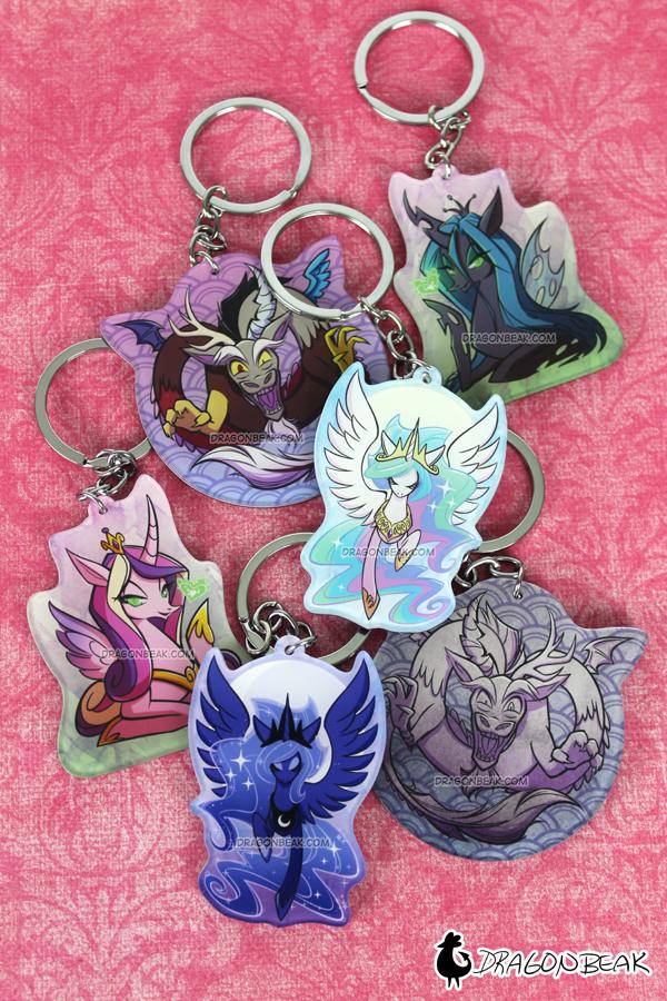 My Little Pony Key Chains by DragonBeak