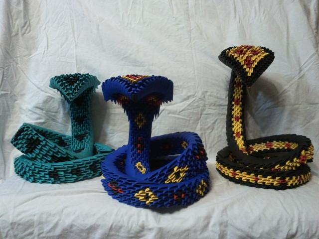 origami cobra family by kamui487