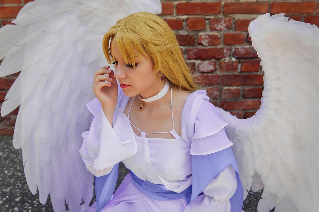 Anjel crying by l-Saya-l