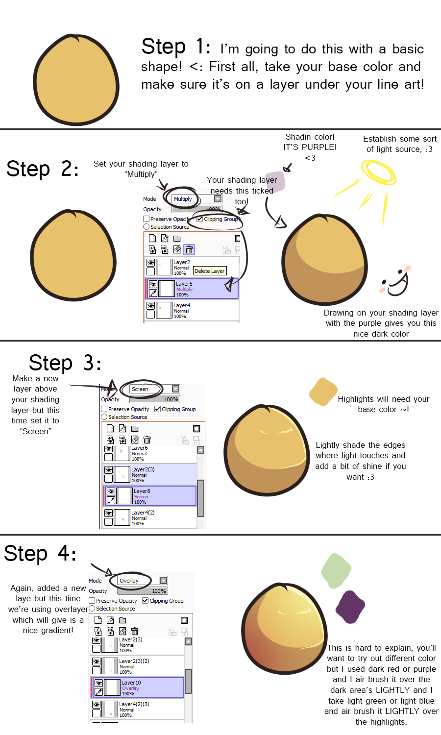 How To Shade In Paint Net Basic One Color Shading