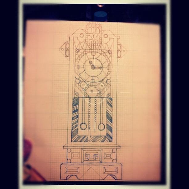 Grandfather Clock Sketch