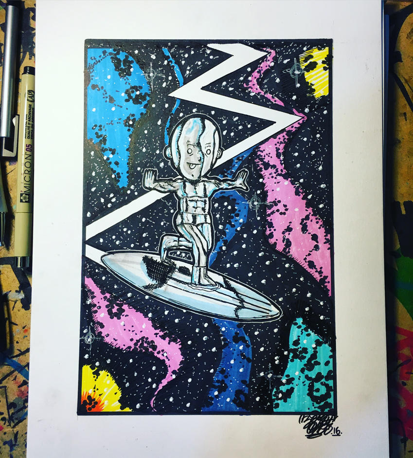 The Silver Surfer by ZERO1ER