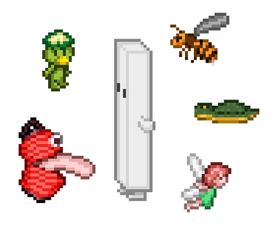 Platformer: Some monsters by puremrz