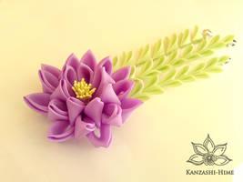 Lilac Lotus Kanzashi by Kanzashi-Hime