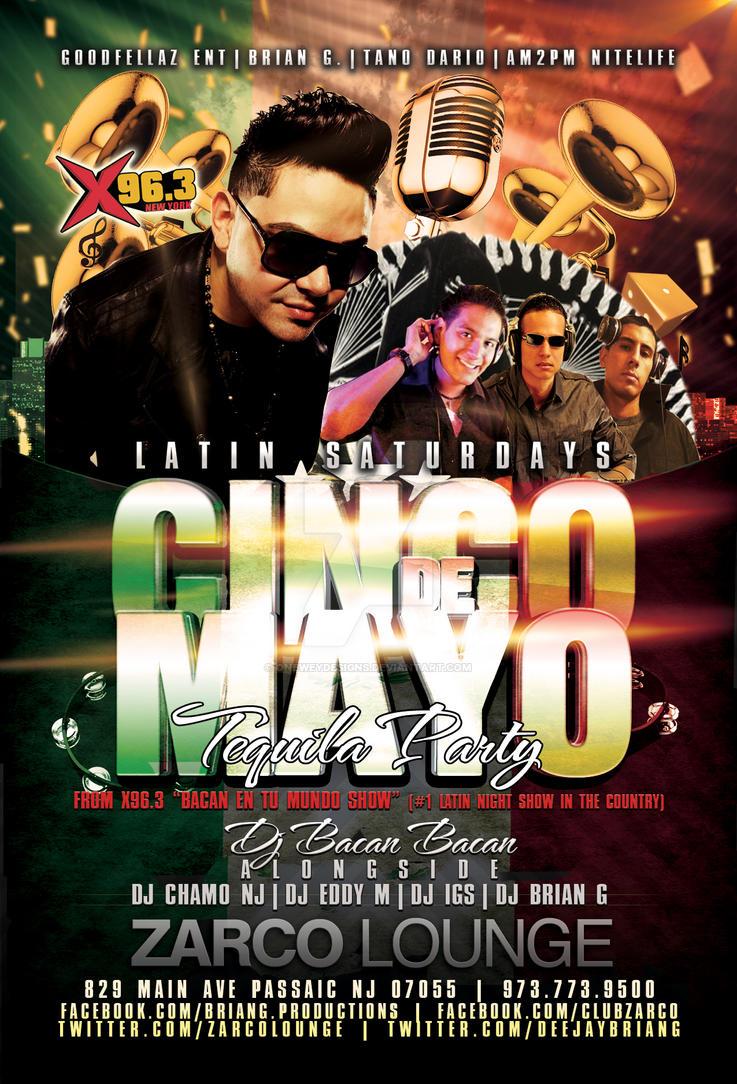 cinco de mayo flyer for zarco lounge by oneweydesigns on deviantart