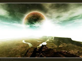Happy Space Scene Dreamland by Swaroop