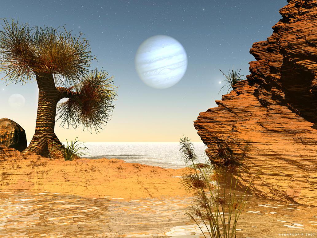 Callistonian vista by Swaroop