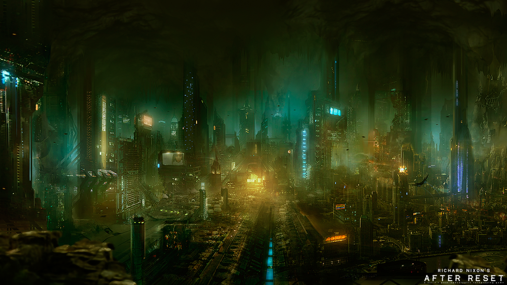 After Reset RPG illustration UNDERGROUND CITY by blackcloudstudios