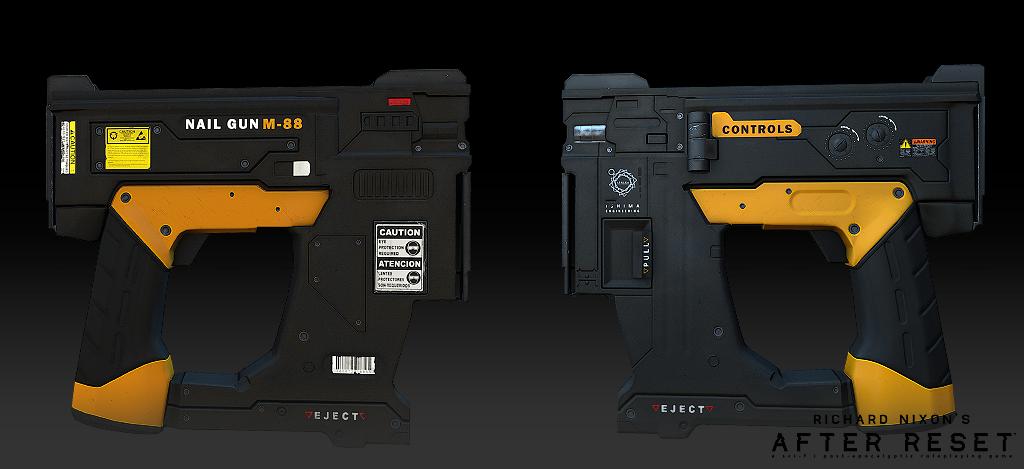 Nail Gun M-88 - model 02 by blackcloudstudios on DeviantArt
