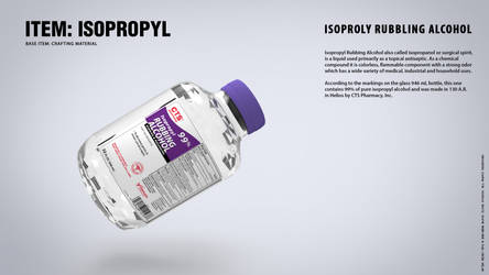 IN-GAME ITEMS: Isopropyl Rubbing Alcohol by blackcloudstudios