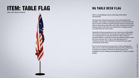 IN-GAME ITEMS: Table Flag by blackcloudstudios