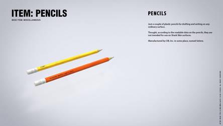 IN-GAME ITEMS: Pencils by blackcloudstudios