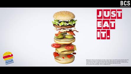 Crispy Burger, sandwich (c) Inochi Foods (ad.) by blackcloudstudios