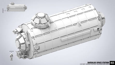 Universal Spacecraft Pressurized Node by blackcloudstudios