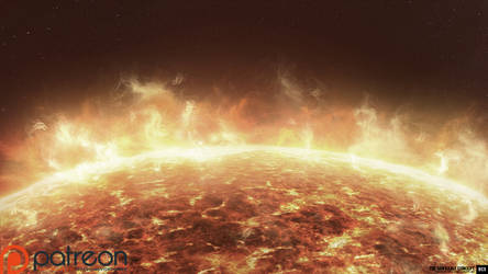 Daudalus Conceptarts: The Sun, Early Concept by blackcloudstudios
