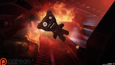 Daudalus Conceptarts: Creepy/Cute Plush Toy by blackcloudstudios