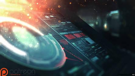Daudalus Conceptarts: Communication System by blackcloudstudios
