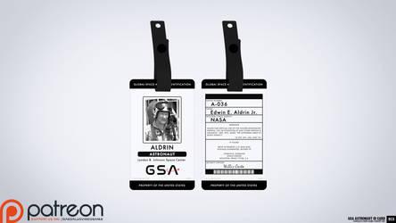 Global Space Agency (GSA) Astronaut ID Card by blackcloudstudios