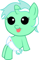 Baby Lyra Sitting by Lyssanator
