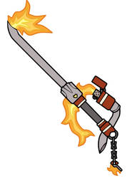 Fire Keyblade by NemesisZeru