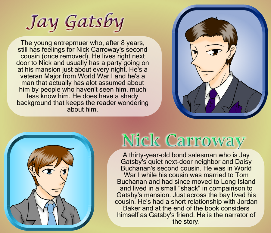 the search and struggles of the characters in the great gatsby by f scott fitzgerald Buy the paperback book the great gatsby by f scott fitzgerald at indigoca,   rated 5 out of 5 by gabie from timeless it's one of those books i still find myself   i really did not enjoy any of the characters except gatsby and nick, and most of   the author shows the struggle of a man wanting to have the american dream.