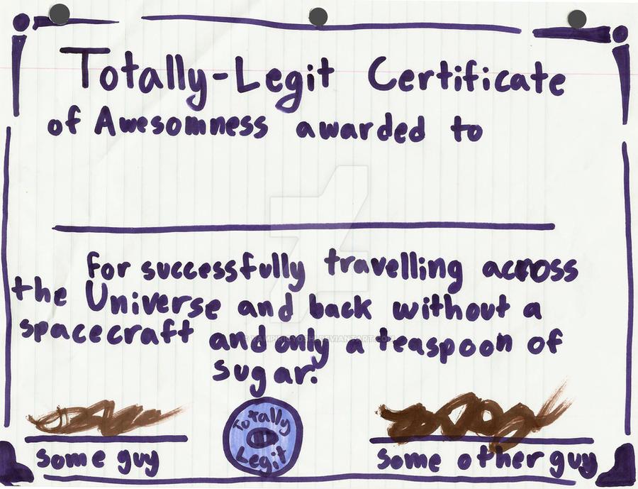 Certificate of Awesomeness by VampiricYoshi on DeviantArt