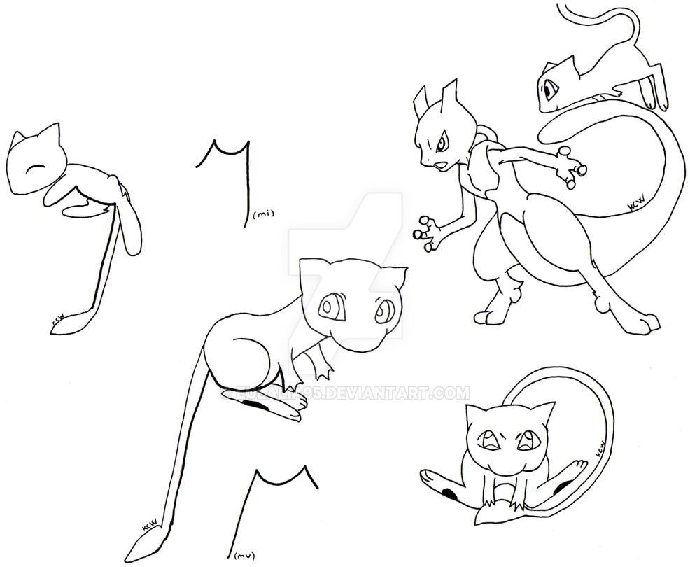 Mew with mu miu by eulalia95 on deviantart - Pokemon miu two ...