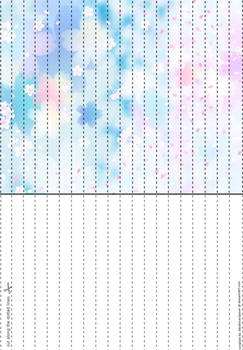 Pastel Sakura Star Paper by CelestialGreen