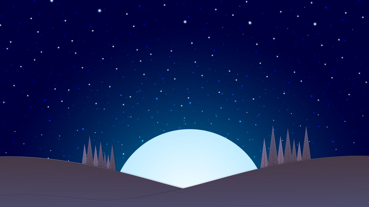 Desktop Wallpaper 4k Minimal Moon Night By Jorgehardt On Deviantart