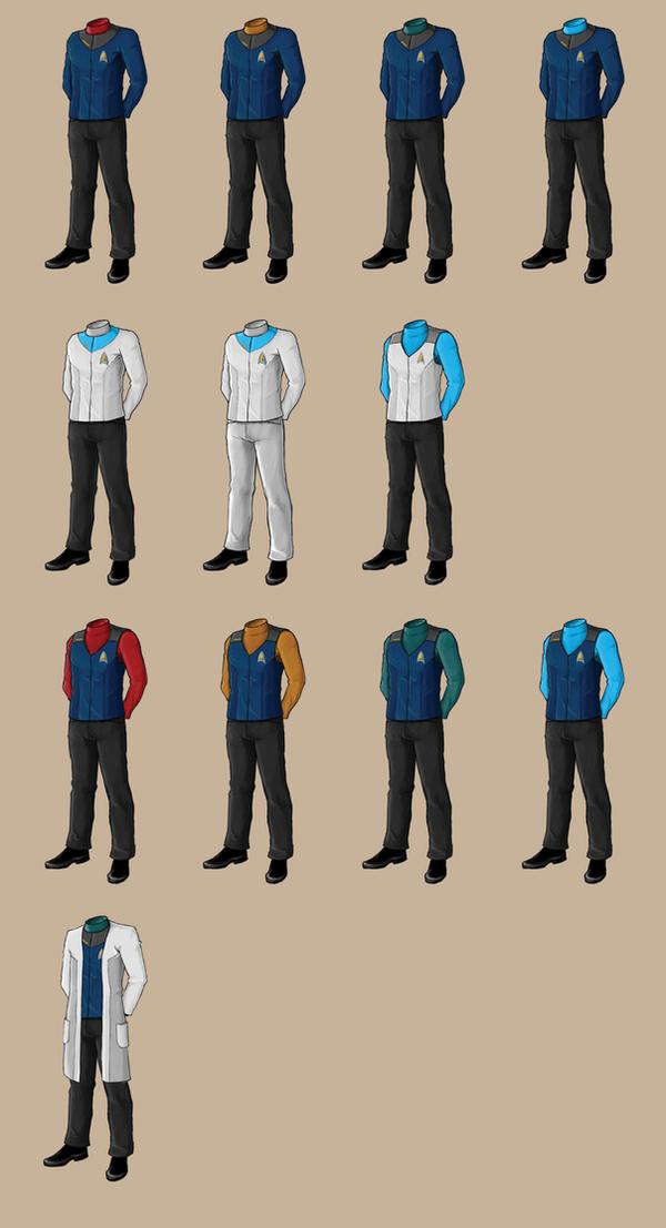 Star Trek Uniforms By Samuriplatypus On Deviantart