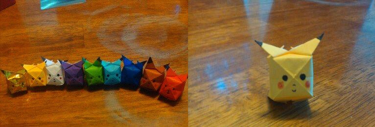 Origami Pikachu By Thao Mymy728