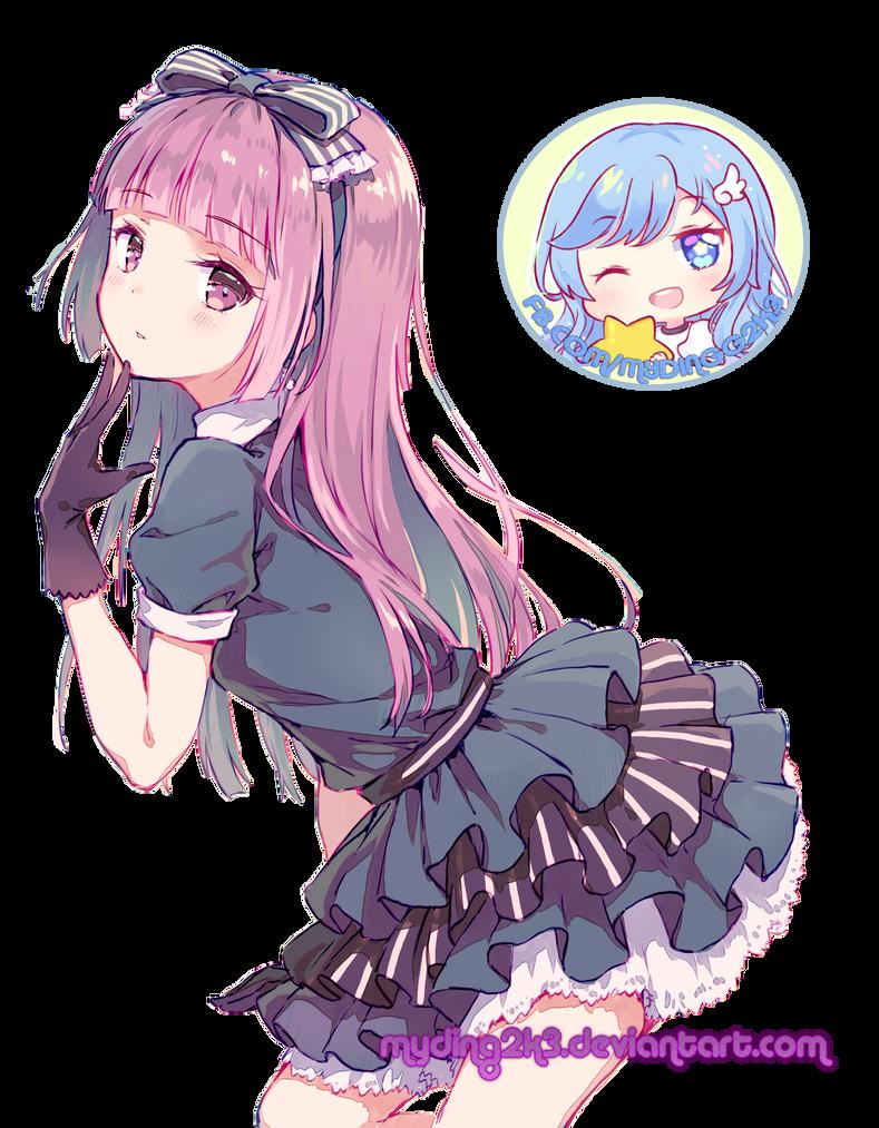 Render Anime Girl by Myding2k3