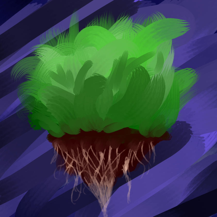 Floating Earth Grass by ethanasay06