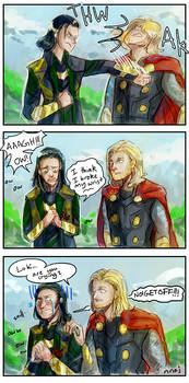 Loki Breaks His Wrist Oh Thors Face