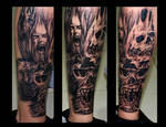 skullz leg sleeve