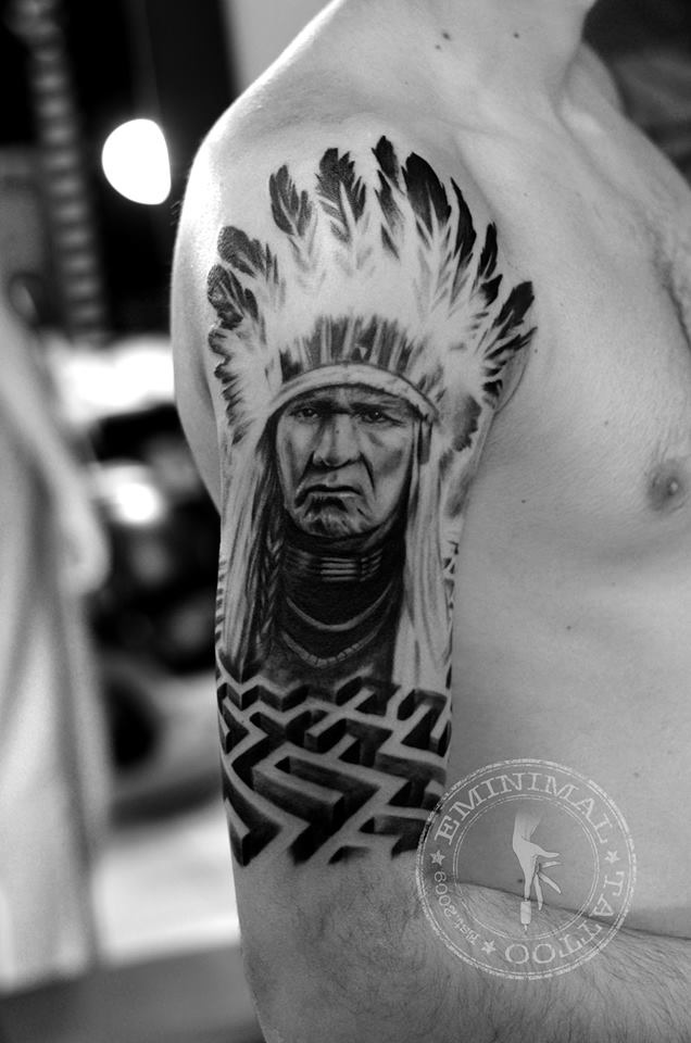 indian chief by eminimal on deviantart