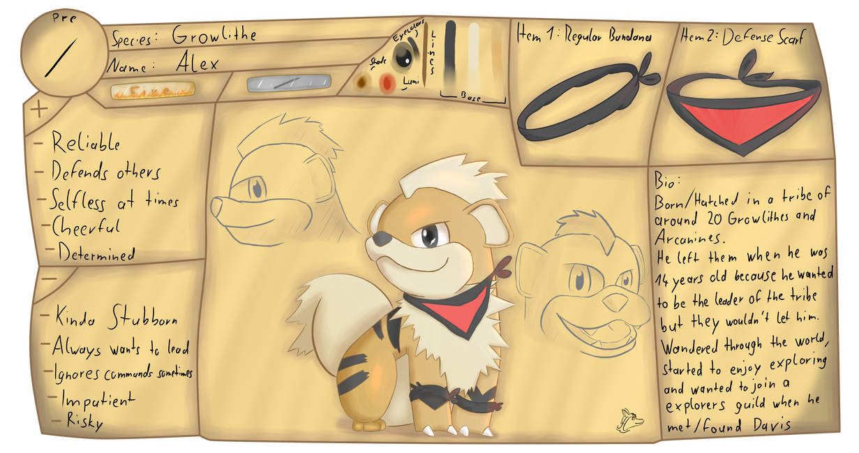 Alex Ref Sheet (Contest Entry) by Steve-the-Lucario ...