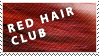 Red Hair Club Stamp by Ephourita