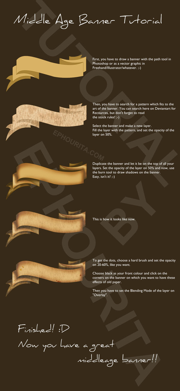 Middle Age Banner Tutorial by Ephourita on DeviantArt