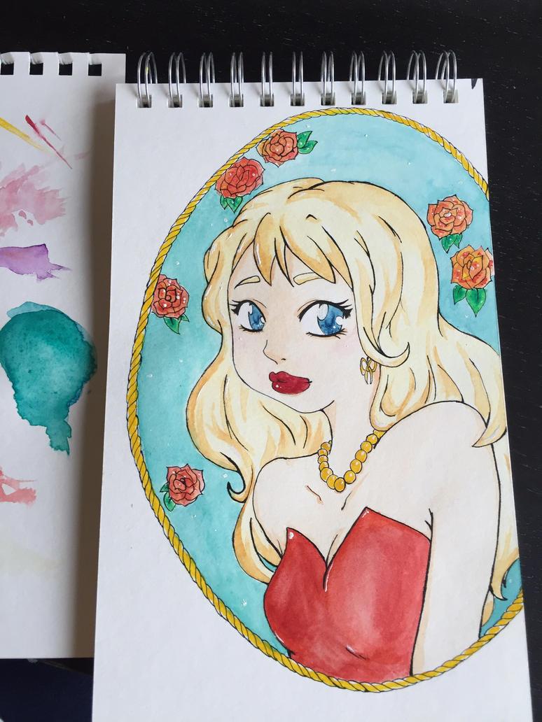 #Inktober 1: Rose Lady by Ephourita