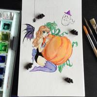 #Inktober 2 Pumpkin Sweets and Treats