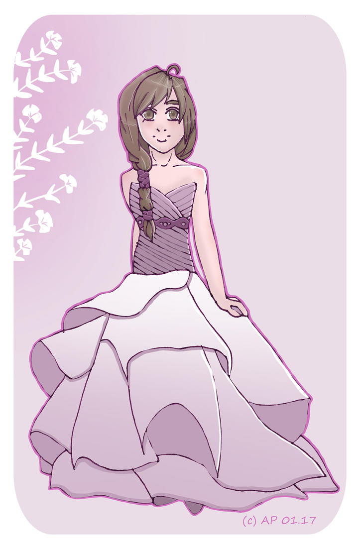Wedding dress purple by Miracoin