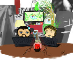 Gronkh und Sarazar im Livestream by Vaccoon