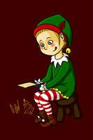 Weihnachtself (Sarazar?) by Vaccoon