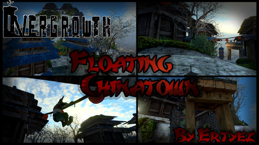 ''Floating Chinatown'' Overgrowth Custom Map by ertyez