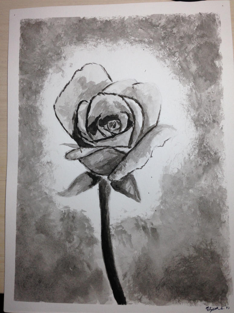 A Single Rose in the Shadows by EA3021