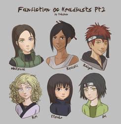 Fanfiction OC Headbusts 2 by tokibun