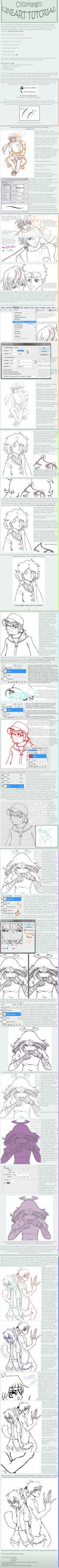 REUPLOAD - lineart tutorial by Kiwisaurus