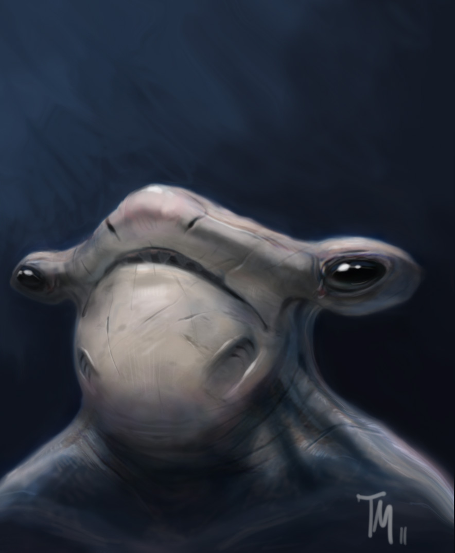 Hammerhead Creature Concept by Mattasama