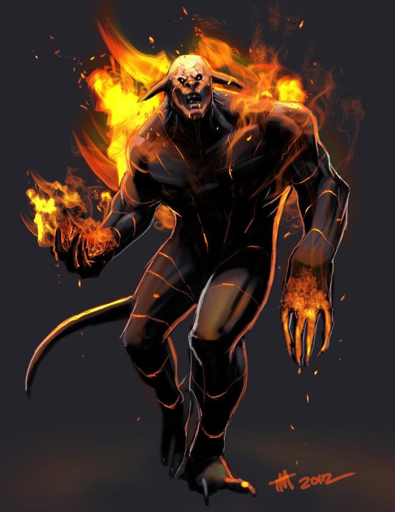 Fire Demon Speed Paint by Mattasama